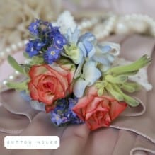 Lady's wedding corsage
