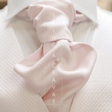 Close up of a tied wedding cravat