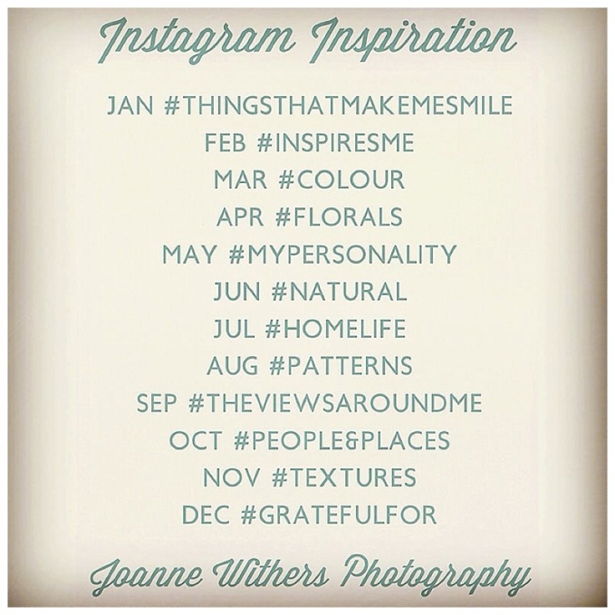 Photo a day categories