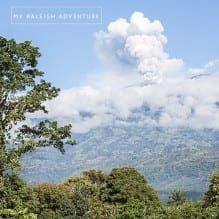 Turrialba Volcano errupting
