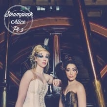 Steampunk brides in a pumping station