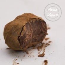 Chocolate Truffle Half Eaten