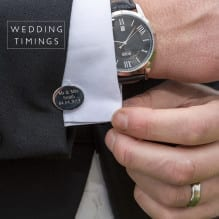 A Groom's cufflinks and watch
