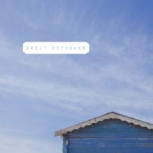 Beach hut and blue sky