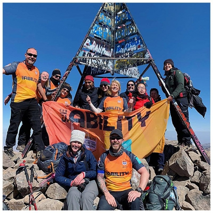 See Ability Trek Group at Mount Toubkal Summit